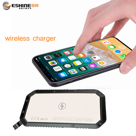 20000mah portable qi wireless charger power bank with usb charging for smart phone